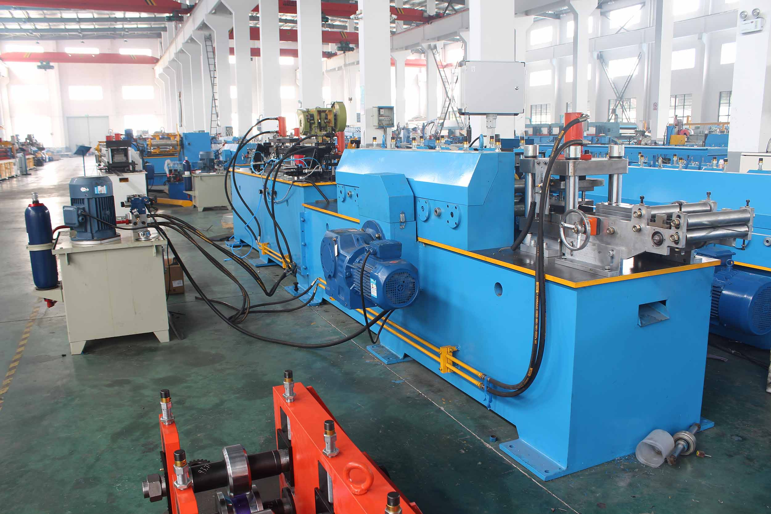 AIR CONDITIONING FLANGE ROLL FORMING MACHINE ( FOR U PROFILE)