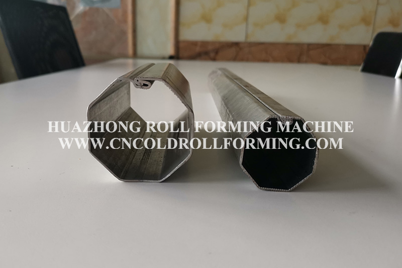 OCTAGONAL TUBE ROLL FORMING MACHINE WITH QUICK CHANGE SYSTEM